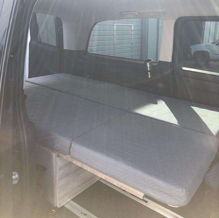 Custom Bed Bench for Van