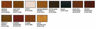 Stain Colors for Wooden Finishes